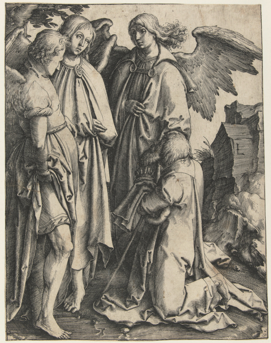 Lucas van Leyden: Abraham and the Three Angels