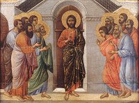 Duccio di Buoninsegna: Christ Appears to the Apostles Behind Closed Doors (Maestà)