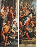 Pieter Aertsen: Adoration of the Magi - Presentation in the Temple