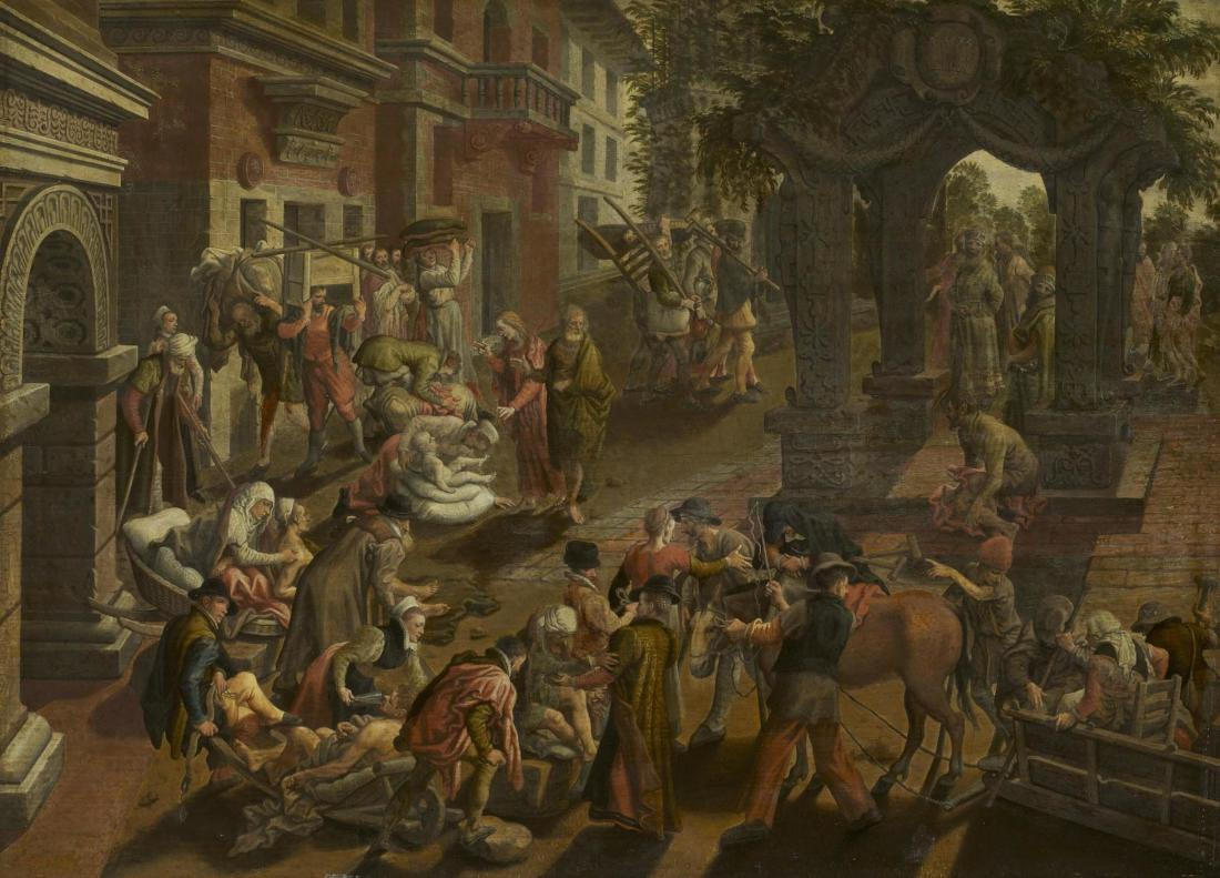 Pieter Aertsen: The Miraculous Healing of a Lame Man by Peter and John