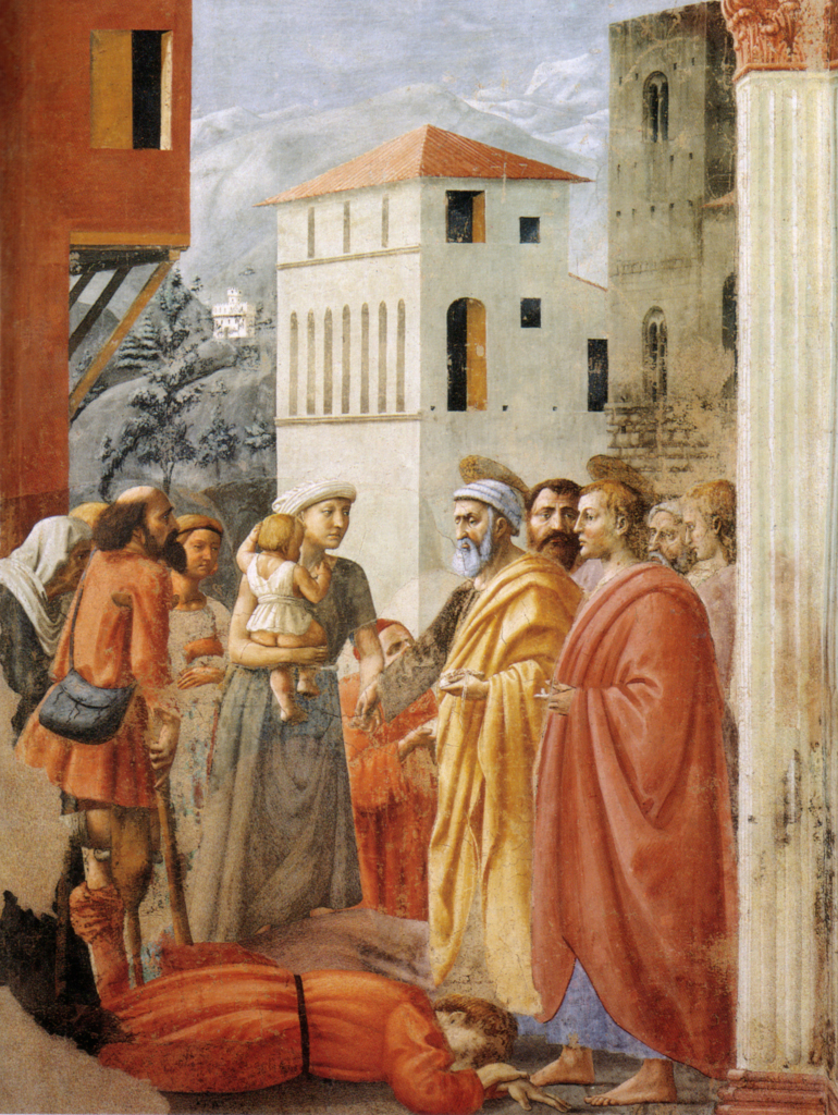 Masaccio: Death of Ananias