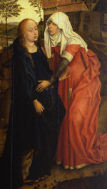 Rogier van der Weyden: Visitation with donor