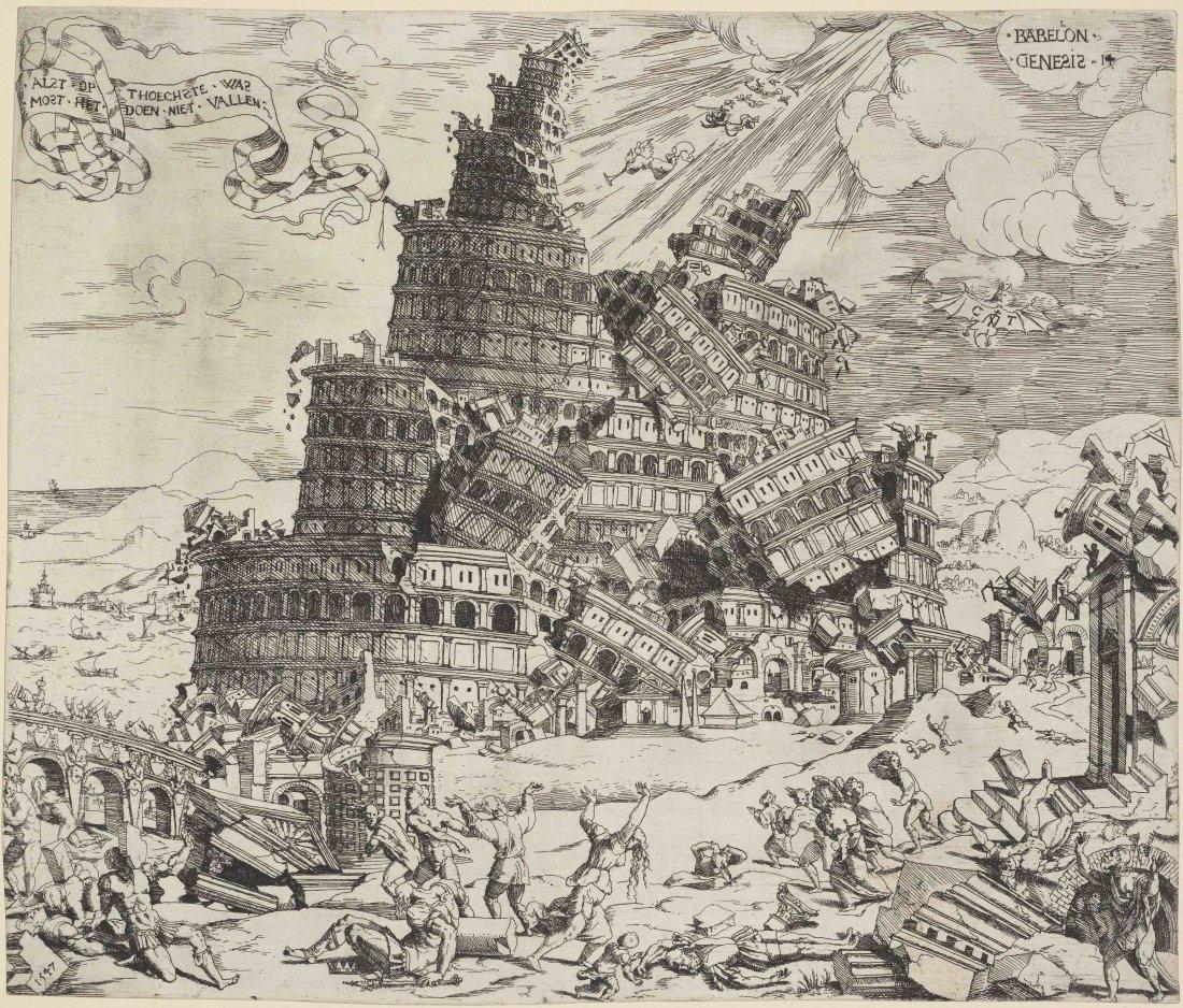 Cornelis Anthonisz: La caída de la Torre de Babel