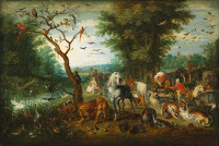 Jan Brueghel the Elder: The Animals Board Noah's Ark
