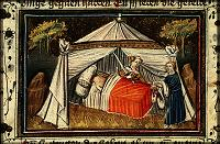 illumination by the Azor masters: the head is put in the sack