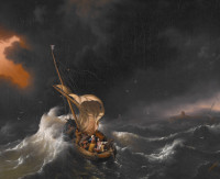 Ludolf Backhuysen: The Storm on the Sea of Galilee