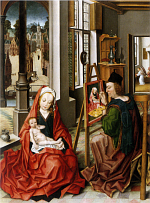 Derick Baegert: Saint Luke painting the Virgin Mary