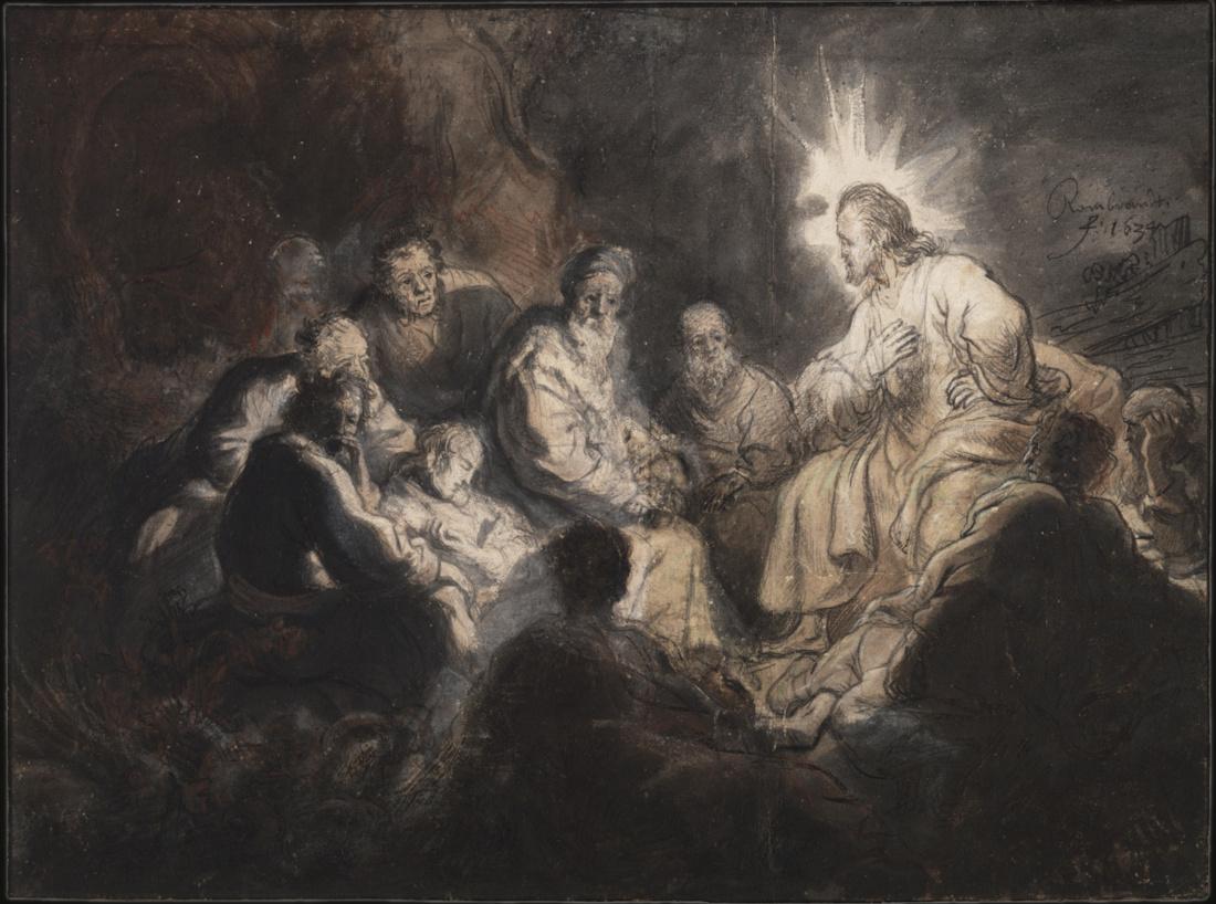 Rembrandt Harmensz. van Rijn: Jesus among his Students