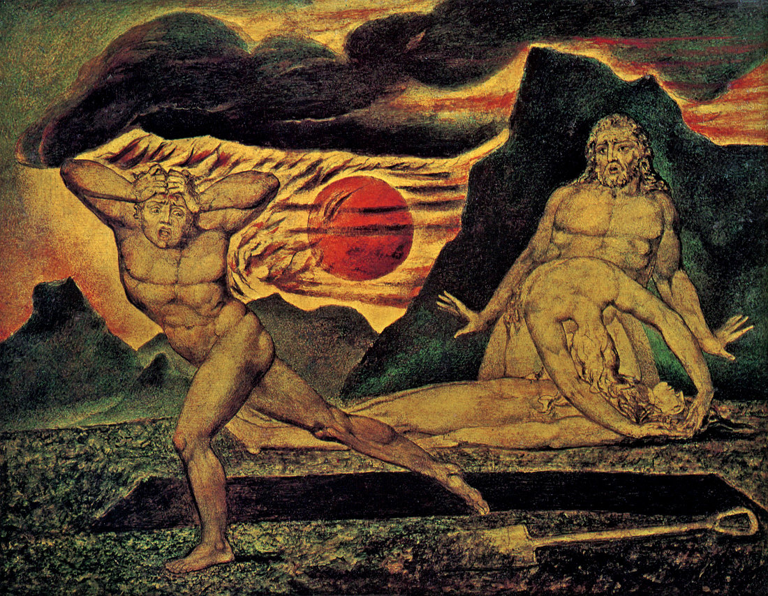 William Blake: Cain flees