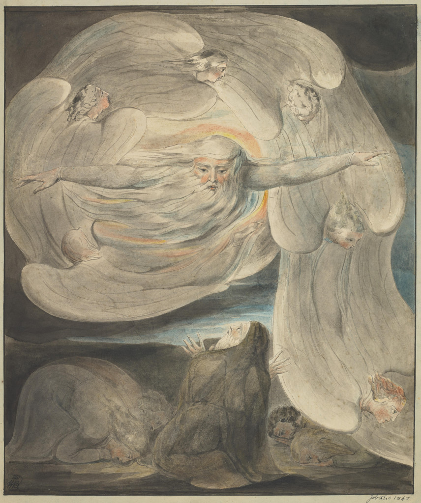 William Blake: God answers Job