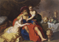 Abraham Bloemaert: Lot and his daughters