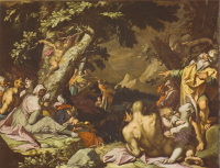 Abraham Bloemaert: The Feeding of the Multitude (1593)