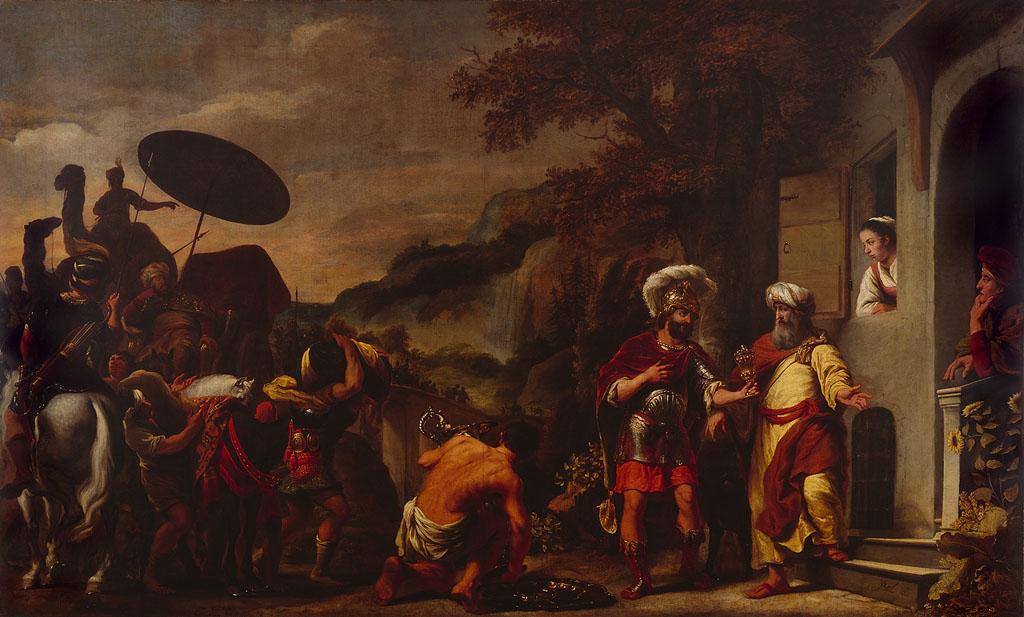 Ferdinand Bol: Elisha refusing the gifts of Naaman