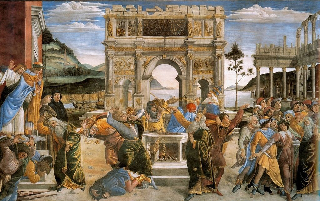 Botticelli (Sandro Filipepi): The Punishment of Korah, Dathan, and Abiram