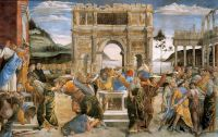 Botticelli: The Punishment of Korah, Dathan, and Abiram