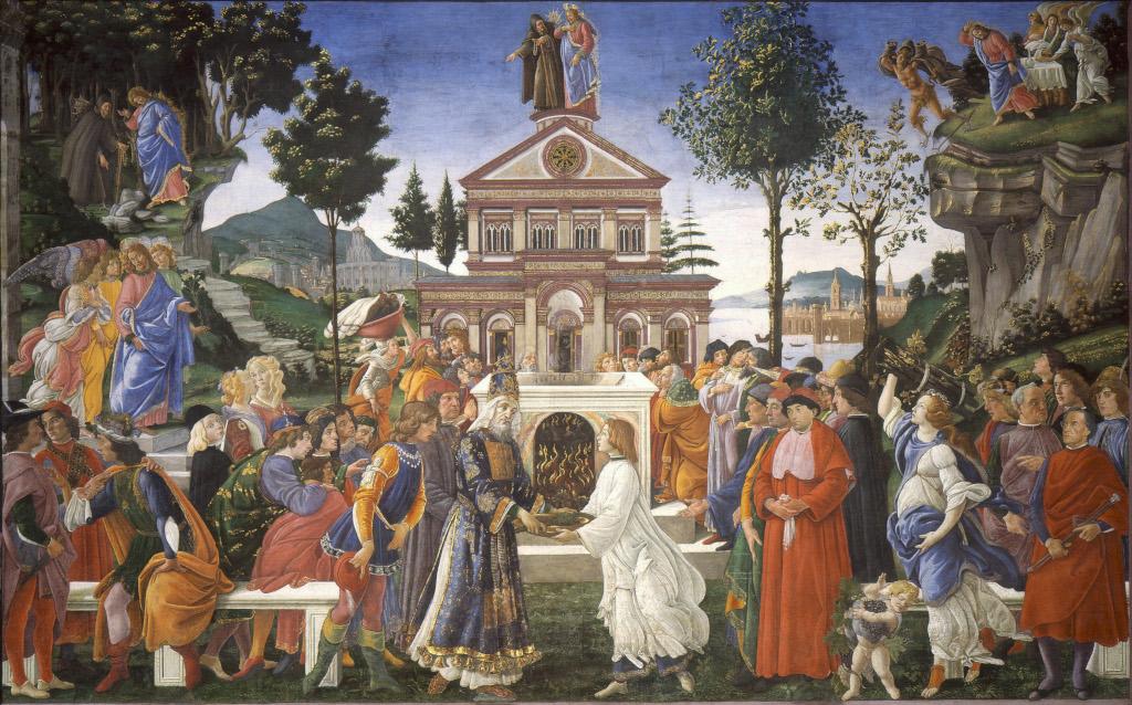 Botticelli (Sandro Filipepi): The Temptation of Christ