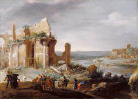 Bartholomeus Breenbergh: Moses and Aaron Changing the Nile to Blood