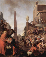 Bartholomeus Breenbergh: Joseph Distributing Corn in Egypt