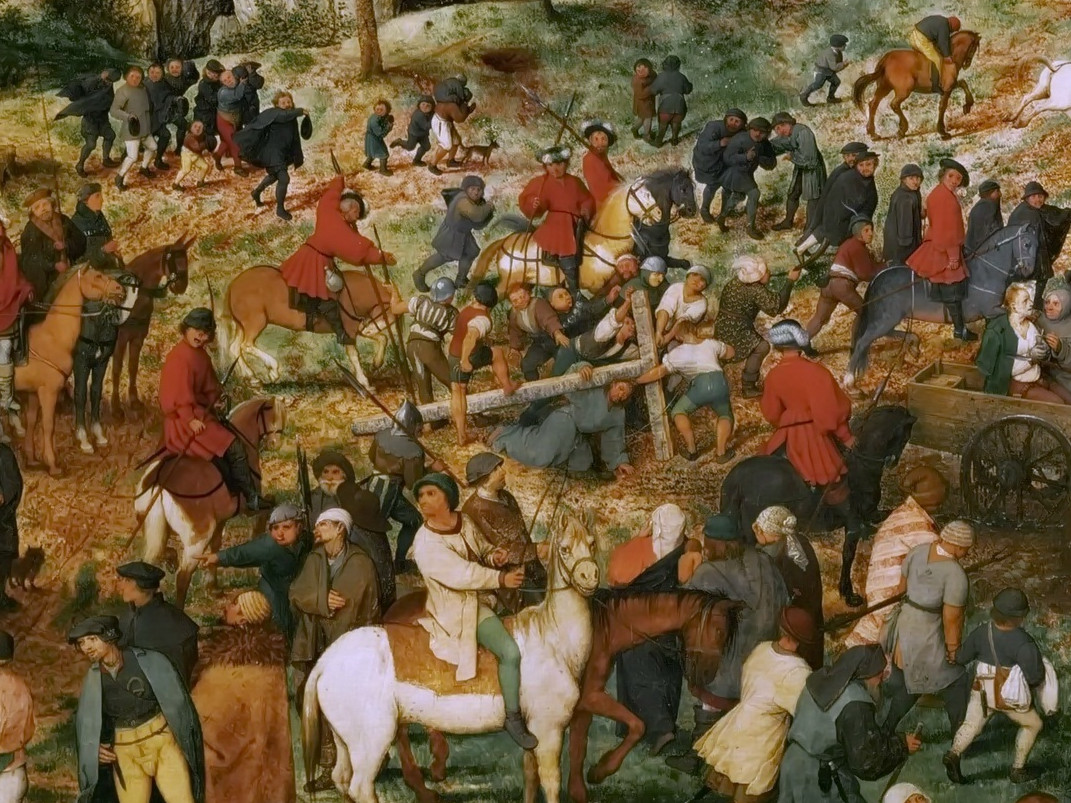 Pieter Bruegel the Elder: The Procession to Calvary (detail [1])