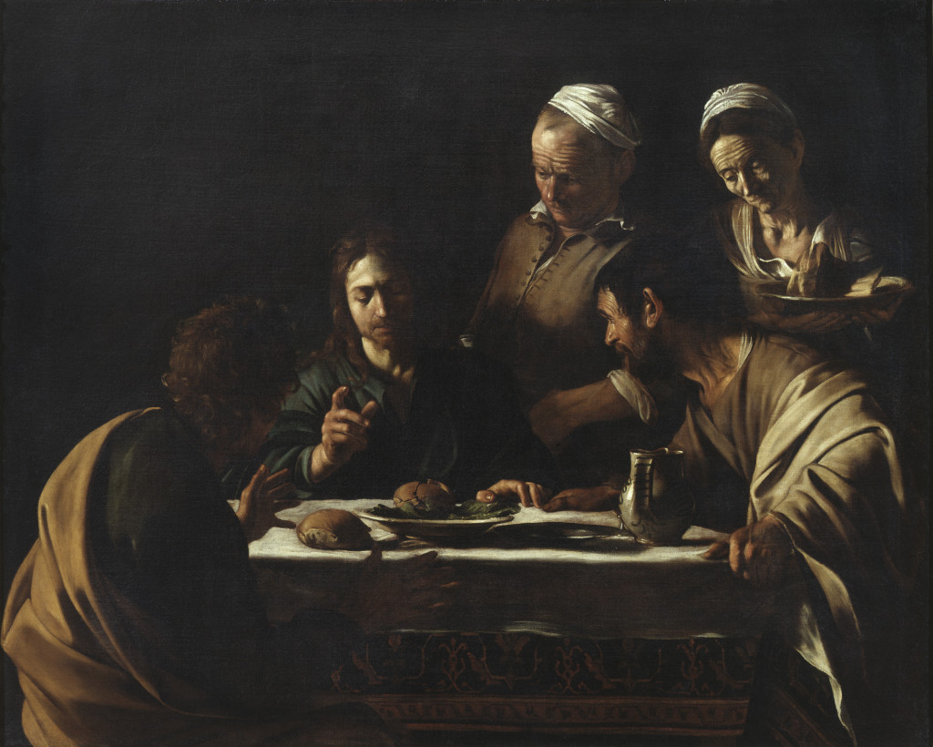 Caravaggio: Supper at Emmaus (1606)