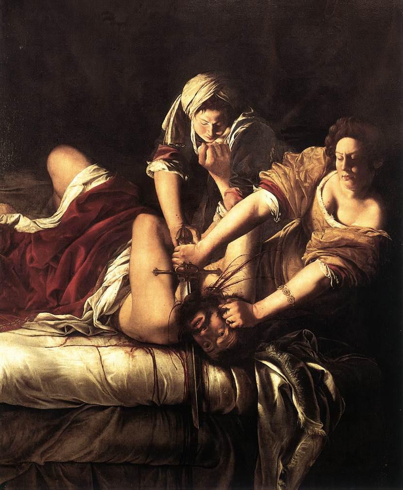 Artemisia Gentileschi: Judith Beheading Holofernes (Uffizi)