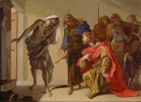 Bernardo Cavallino: Saul invokes the Ghost of Samuel