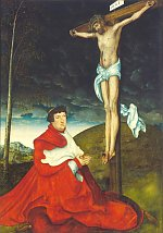 Lucas Cranach the Elder: Crucifixion with Cardinal