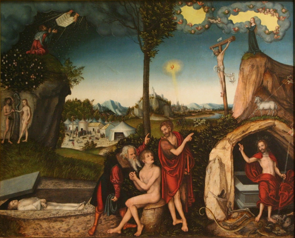 Lucas Cranach the Elder: The Law and the Gospel