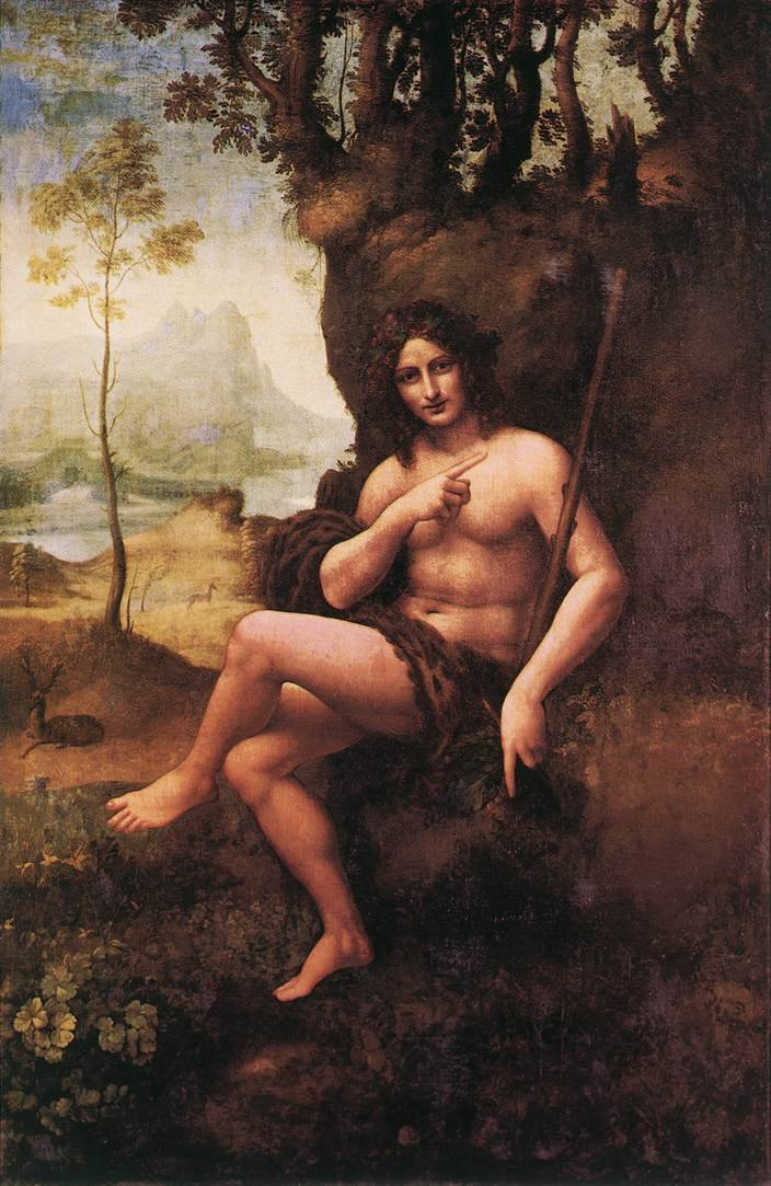 Leonardo da Vinci: St John in the Wilderness