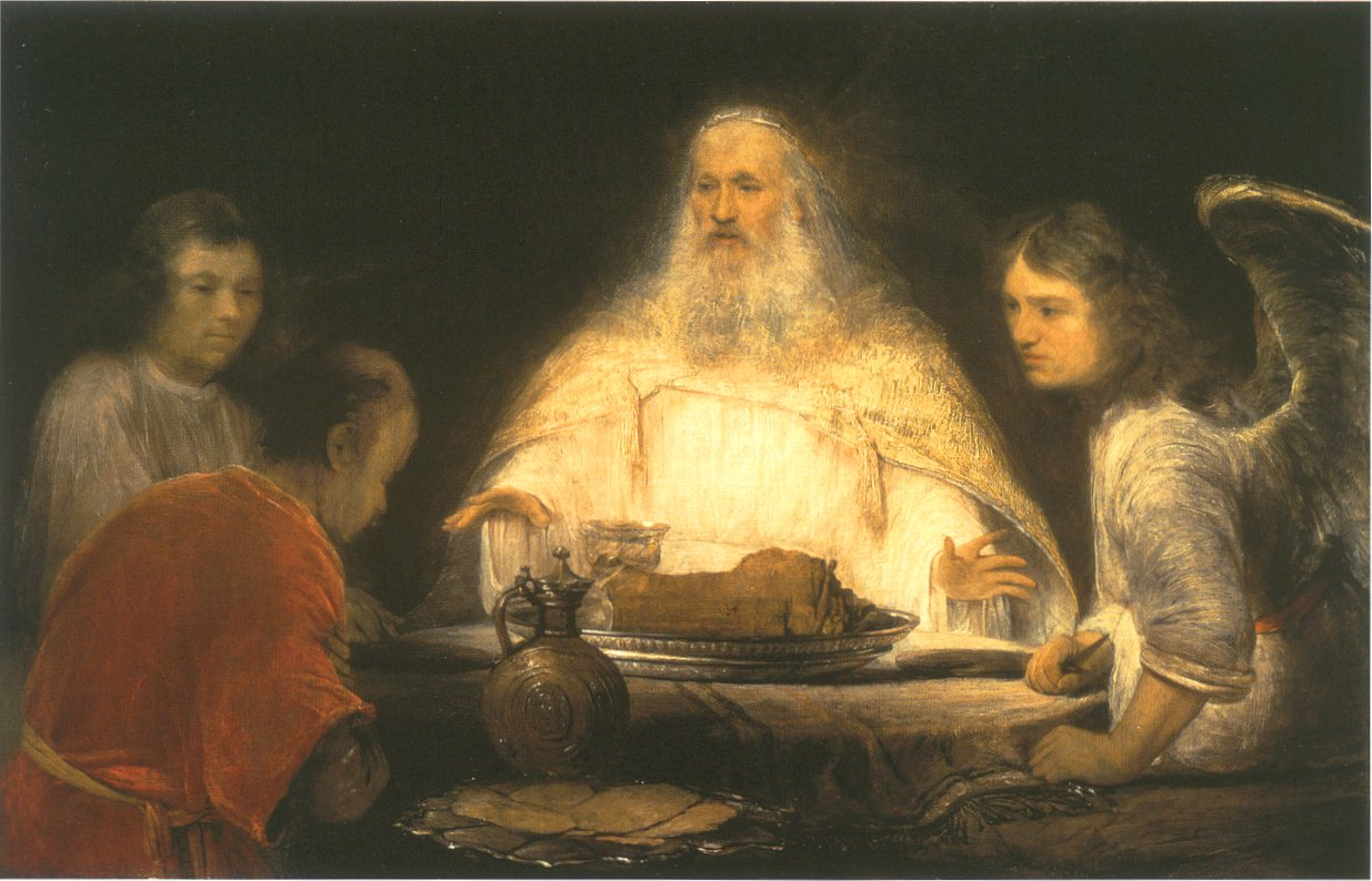 Arent de Gelder: God and the Angels visit Abraham