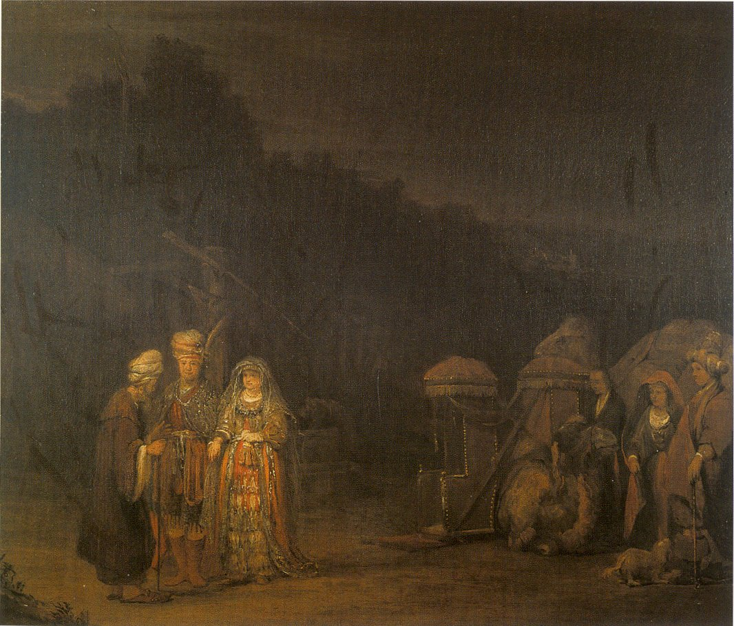 Arent de Gelder: Isaac meets Rebekah