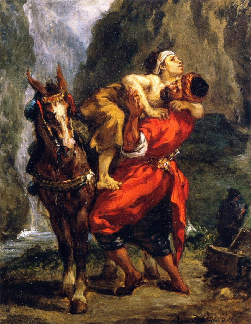 Eug�ne Delacroix: The Good Samaritan (1849)