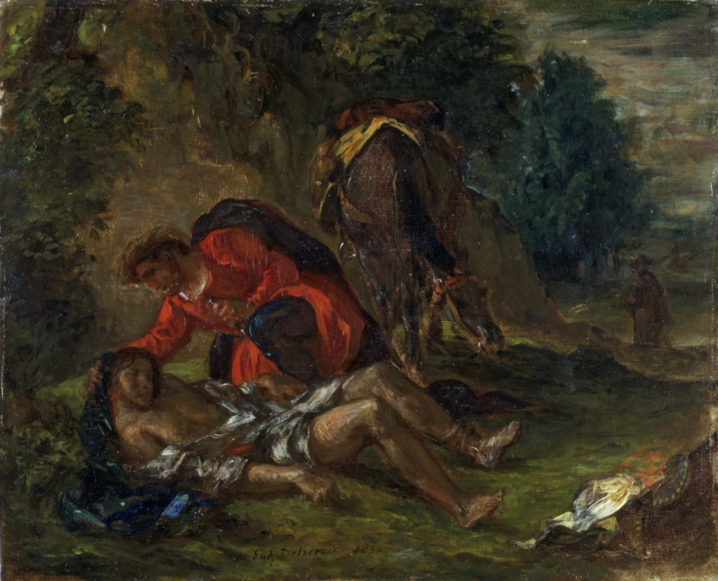 Eug�ne Delacroix: The Good Samaritan (1852)
