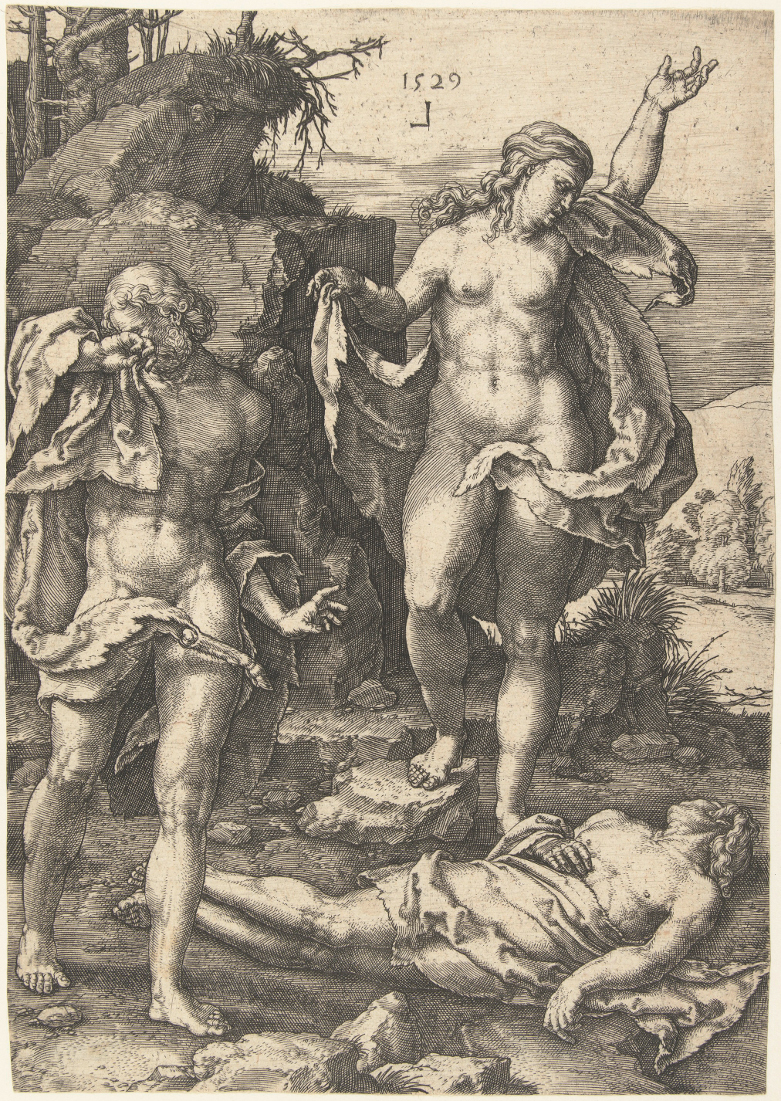 Lucas van Leyden: Adam and Eve Bemoaning the Death of Abel