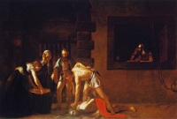 painting by Caravaggio, showing the decapitation of John the Baptist.