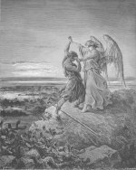 Gustave Doré: Jacob Wrestling with the Angel