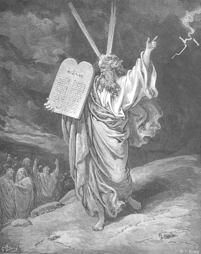 Gustave Dor�: Moses Showing the Ten Commandments