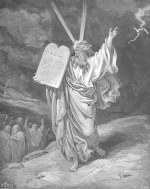 Gustave Doré: Moses Showing the Ten Commandments