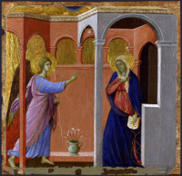 Duccio di Buoninsegna: The Annunciation (Maestà)