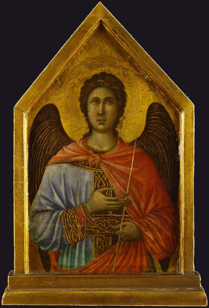 Duccio di Buoninsegna: The angel Gabriel