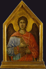 Duccio di Buoninsegna: The angel Gabriel (Maestà)