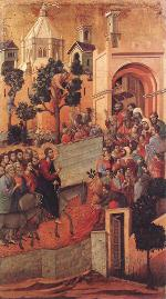 Duccio di Buoninsegna: Entry into Jerusalem (Maestà)