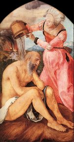 Albrecht Dürer: Job on the Dunghill, with his Wife