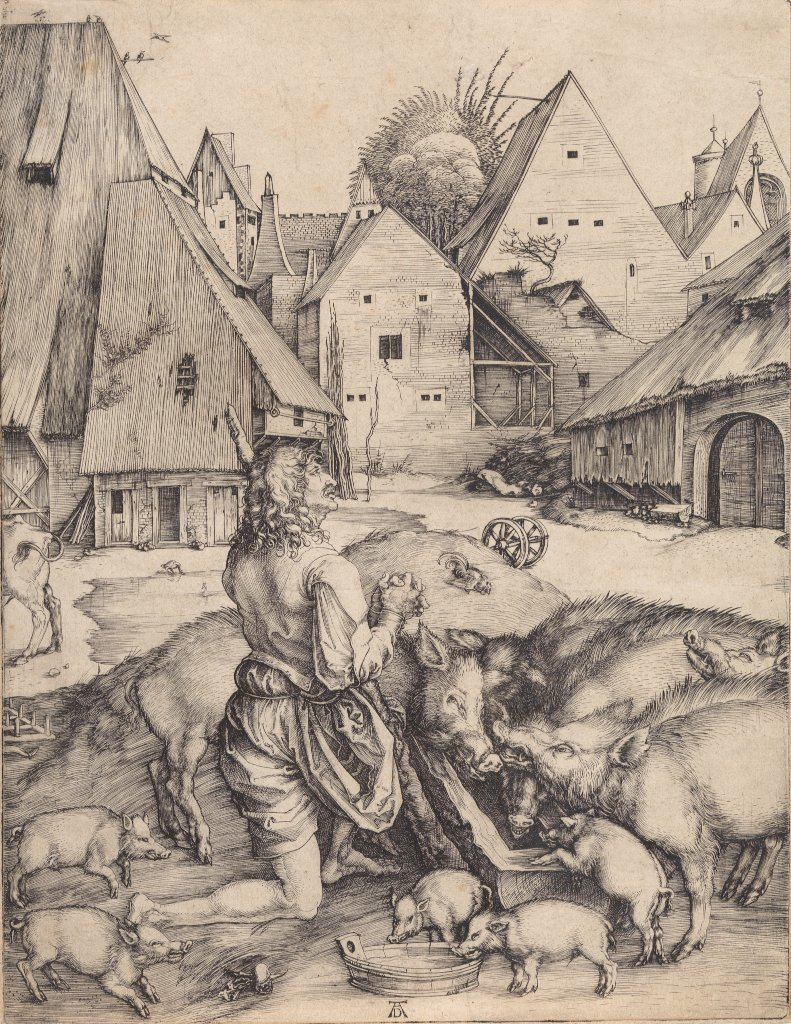 Albrecht D�rer: The Prodigal Son among the Pigs