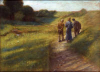 Fritz von Uhde: Walking to Emmaus
