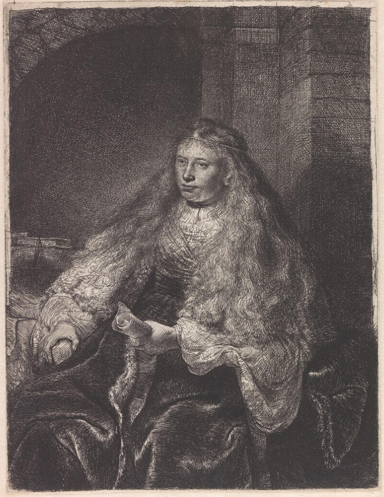 Rembrandt Harmensz. van Rijn: Esther with the Decree of Destruction