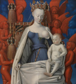 Jean Fouquet: Virgin and Child (Melun diptych)