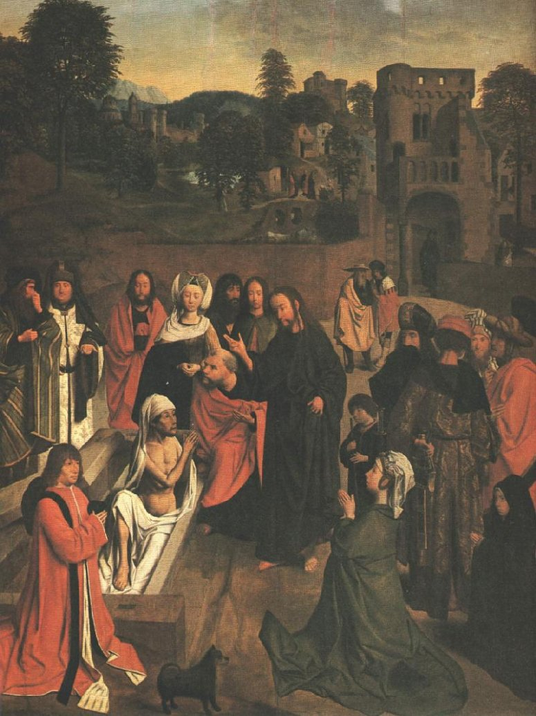 Geertgen tot Sint Jans: The raising of Lazarus