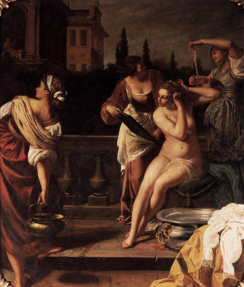 Artemisia Gentileschi: Bathing Bathsheba
