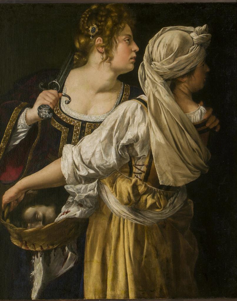 Artemisia Gentileschi: Judith, Her Maid and Holofernes' Head; Power of women